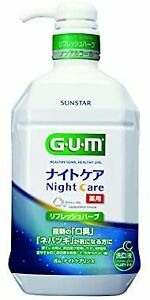 (Non-medicinal products) GUM Mouthwash Night Care Medicated mouthwash (refresh
