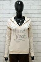 Felpa HARD ROCK Donna Taglia XS Maglia Maglione Pullover Sweater Woman Cotone
