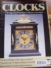 CLOCKS MAGAZINE - JANUARY 1995 THOMAS BRIDGE THOMAS TUE MOON DIAL NORFOLK