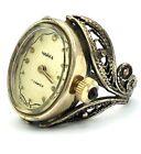 Vintage Watch Ring CHAIKA 17-17.5 Size Womens Soviet Golden Mechanical SERVICED