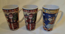 Three Susan Winget Christmas Mugs - EXCELLENT CONDITION!!!