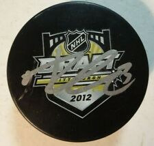 Autographed ADAM PELECH Signed 2012 NHL Draft Hockey Puck New York Islanders