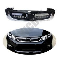 Fit For Honda Civic 4 Door Sedan 2012-2013 ABS Front Bumper Center Grilles Refit