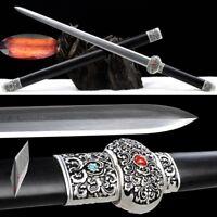 Sworn Brothers Sword Tanto SandwichSteel Forging Pattern Steel Blade Sharp #2288