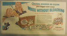 Oxydol Soap Ad: White Without Bleaching ! from 1950's