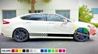 Sticker Decal Side Door Stripes for Ford Fusion 2013 2014 2016 2017 Racing sport