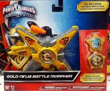 POWER RANGERS NINJA STEEL DELUXE DX GOLD NINJA BATTLE MORPHER 43502 GOLD RANGER