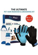 Pet Hair Remover Lint Brush For Dog Cat Fur Clothes With 2 Pet Grooming Gloves