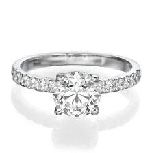 BLACK FRIDAY 1 CT ENHANCED ROUND DIAMOND ENGAGEMENT RING D/VS2 14K WHITE GOLD