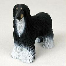 Afghan Hound (Black) Dog Figurine Statue Hand Painted Resin Gift Pet Lovers