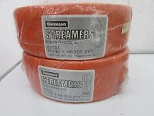 Vintage Dennison Halloween Orange Crepe Paper Streamers IOP x 2