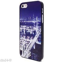 Coque housse protection pr iPhone 5/5s case cover Megalopolis traffic/city/ville