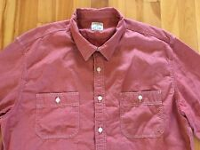 J Crew Men's Sz XL Selvedge Japanese RED CHAMBRAY Utility Shirt