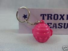 Tupperware Cupcake Keeper Mini Key Chain Opens Keep Pills Mints Etc. Pink New