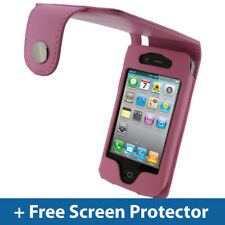 Pelle Rosa Case Cover per Apple iPhone 4 HD & IPHONE 4S 16GB 32GB 64GB PARAURTI