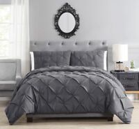 Brunel Pinched Pleat Down Alternative Comforter Set