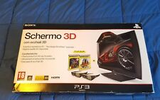 "Sony Playstation PS3 PS4 Schermo/Display 3D Full HD 24"" + 2 Occhiali 3D Bundle"