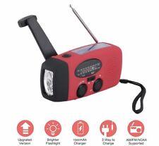 Emergency Solar Hand Crank Dynamo AMFM Radio LED Flashlight IPhone Charger USA