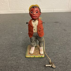 Dancing Jigger Penny Toy, Vintage, Tin, Wind-Up w/ Key