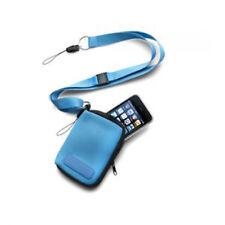 Tasche Schutztasche aus Neopren für MP3 MP4 Player Handyhalter Lanyard BLAU