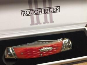 "Rough Rider Red Picked Bone Moose 3 1/2"" Pocket Knife  RR1687"