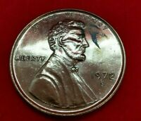 Large 3 Inch Novelty Pewter Coin/Coaster/Paperweight 1972 S LINCOLN CENT PENNY