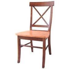 Whitewood X-Back Chair - w/solid wood seat Cinnemon/Espresso C58-613P NEW