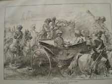 A Rajah travelling in state to meet Prince of Wales Bombay  India 1875 old print