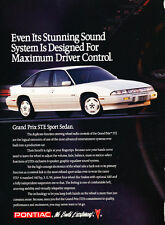 1991 Pontiac Grand Prix STE Sport Sedan - Classic Vintage Advertisement Ad D189