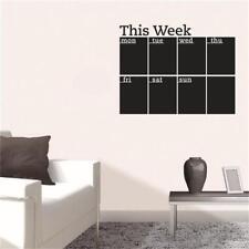 New Removable Blackboard This Week Chalkboard Wall Sticker Home Office Decor LG
