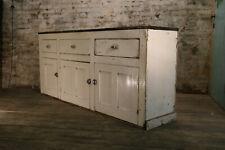 Original Victorian Painted Pine Antique Dresser Base Kitchen Cabinet circa 1870