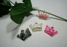 5 Pc Rhinestone Crown Diy Flat Back Resin Kawaii Cabochon Decoden Cellphone Deco