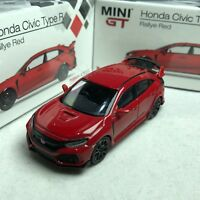 1/64 TSM Model MINI-GT Honda Civic Type-R FK8 Rallye Red RHD #MGT00012R
