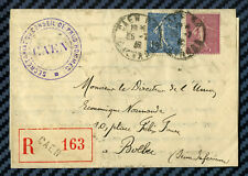-= Lettre recommandée de CAEN (Calvados) pour BOLBEC (Seine-infre) - 1932 =-