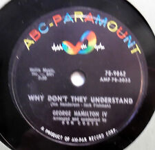 GEORGE HAMILTON IV 78 Why don't they understand / Even tho' ABC PARA R&R  vs27