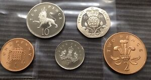 1994 PROOF set of 5 small coins 1p 2p 5p 10p 20p Royal Mint pence