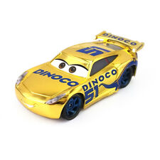 Mattel Disney Pixar Cars 3 Gold Dinoco Cruz Ramirez Metal Toy Car 1:55 Loose New