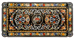 7'x4' Marble Conference Dining Table Top Inlay Marquetry Farm House Decor B851A