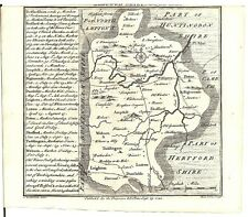Antique map, Bedfordshire .