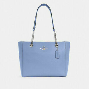 Coach Women's Marlie Periwinkle Pebble Leather Tote (C1566) - NWT