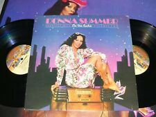 DONNA SUMMER On the Radio Greatest Hits VINYL 2 LP record+POSTER CRC album VG++