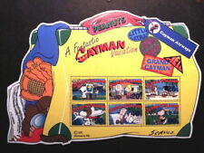 Set of 6 Peanuts & Snoopy Stamps on a 2002 Cayman Islands Souvenir Sheet- MNH