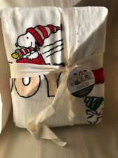 """Peanuts Christmas Throw By Berkshire Oversized 55""""x70"""" NEW WITH TAGS"""