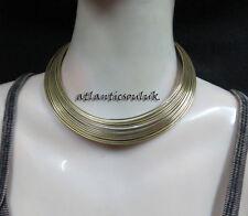 N117 Fashion collectible women brass tone metal wire choker Necklace Nepal Tibet
