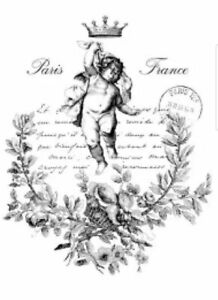 Custom WATER DECAL for shwill_5412 Vintage French Angel 2x A3