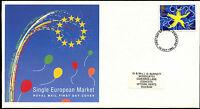GB FDC 1992 Single European Market, Stevenage FDI  #C39424