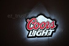 New Coors Light Mountain Logo Man Cave LED Neon Sign 20""