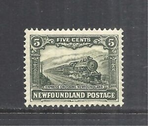 NEWFOUNDLAND SCOTT 175 MH VF - 1931 5c GRNSH GRAY EXPRESS TRAIN ISSUE  CV $12.50