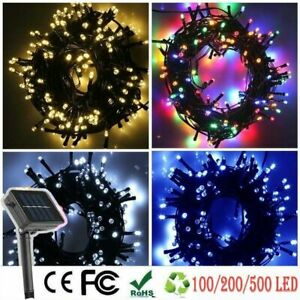 100 200 500 LED Waterproof Solar Power String Fairy Lights Outdoor XMAS Party AU