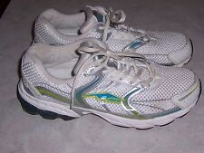 AVIA 6361 White and Silver Running Shoes Sneakers Womens Size 10M EUC
